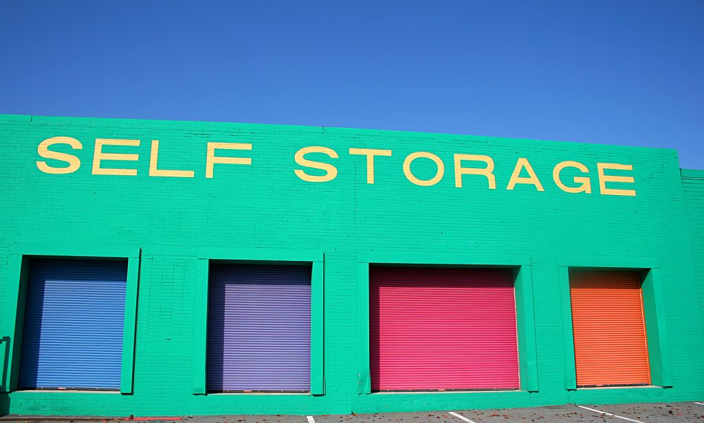 Colorful Newcastle storage units warehouse