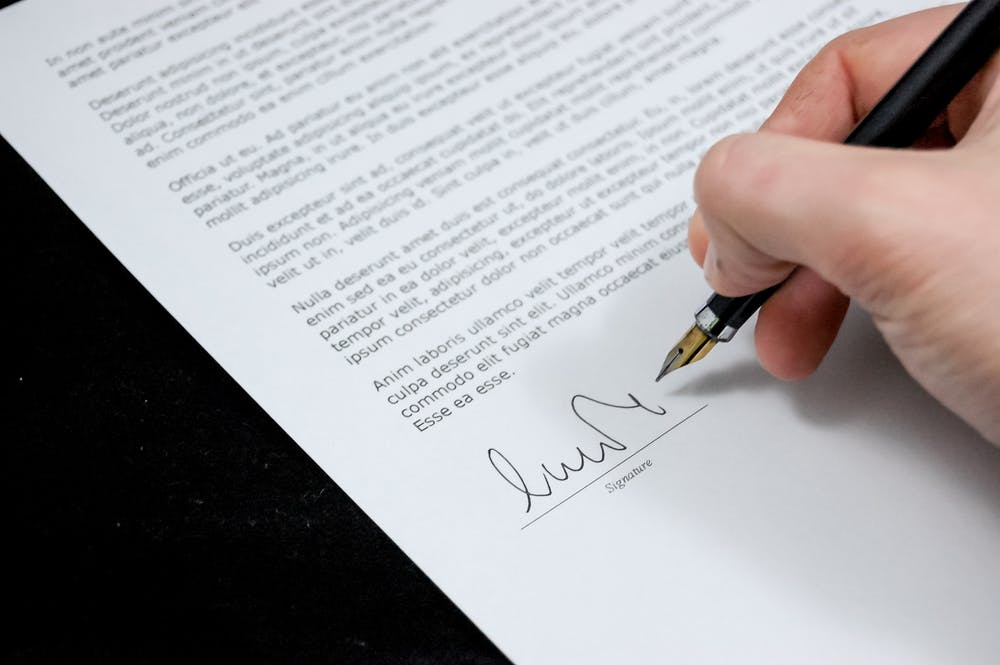 Executor of will in NSW signing some document