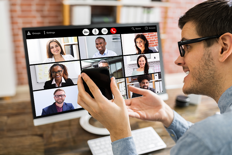 Corporate online team building activity using video conferencing